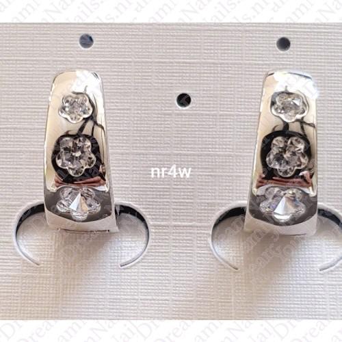Zilverkleurig nr 004 ringetjes