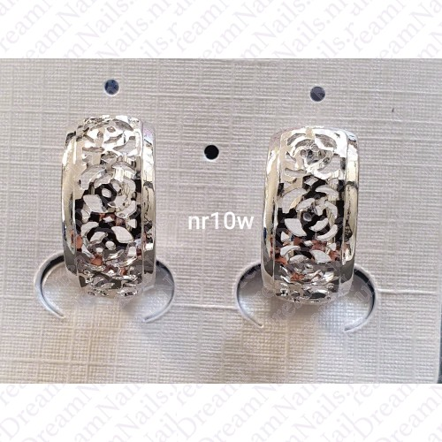 Zilverkleurig nr 0010 ringetjes