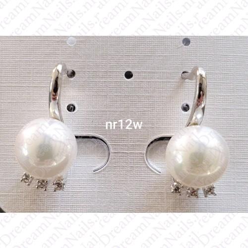 Zilverkleurig nr 0012 ringetjes met parel