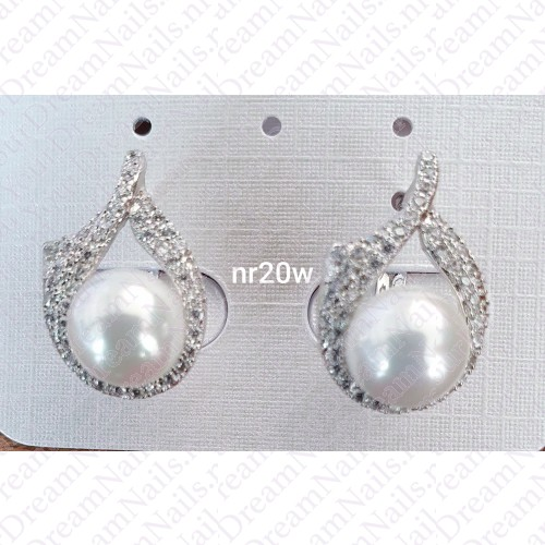Zilverkleurig nr 0020 stekertjes met parel
