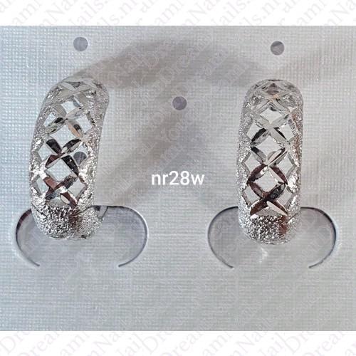 Zilverkleurig nr 0028 ringetjes